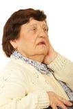 Worried grandma Royalty Free Stock Photo