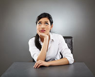 Worried hispanic business lady royalty free stock photography