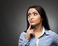 Worried hispanic businesswoman Stock Images