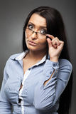 Worried hispanic businesswoman Royalty Free Stock Images