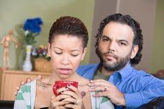 Worried Hispanic Couple Stock Photos
