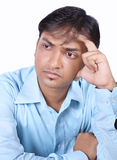 Worried Indian Businessman Royalty Free Stock Images