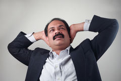 A worried Indian businessman Stock Images
