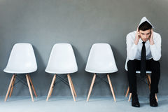 Worried about interview. Royalty Free Stock Images