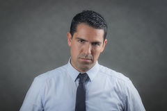Worried latino business man. About bankruptcy Stock Image