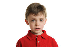 Worried little boy Stock Photography