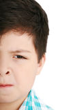 Worried little boy isolated Royalty Free Stock Photography