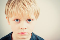 Worried little boy Royalty Free Stock Photos