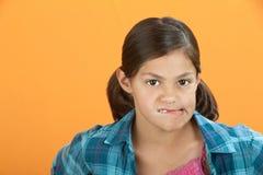 Worried Little Girl Royalty Free Stock Image