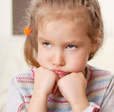 Worried little girl Stock Image