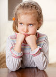 Worried little girl Stock Photos
