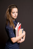 Worried looking young student. Royalty Free Stock Photography