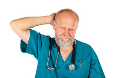 Worried male doctor Stock Photos