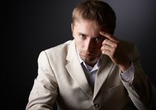 Worried man Royalty Free Stock Image