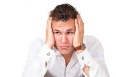Worried man Stock Images