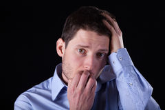 Worried man portrait Royalty Free Stock Photo