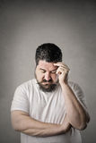 Worried man Royalty Free Stock Photography
