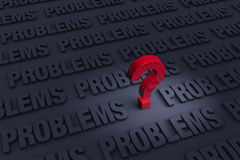 Worried About So Many Problems Royalty Free Stock Photos