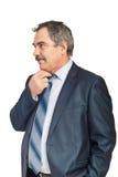 Worried mature business man Stock Photography