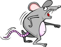 Worried mouse. Running for his life probably a cat is after him royalty free illustration