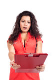 Worried nurse or woman doctor getting bad news Royalty Free Stock Image