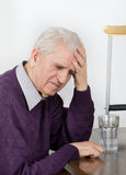 Worried old man Stock Photo