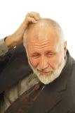 Worried older man royalty free stock images