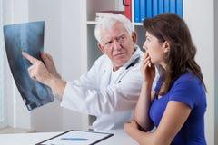 Worried patient Stock Images