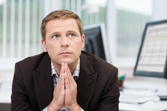 Worried pensive businessman Royalty Free Stock Photography