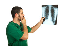 Worried radiologist man Royalty Free Stock Photography