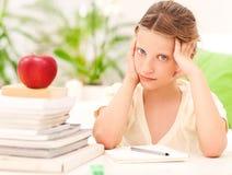 Worried Schoolgirl Stock Photography