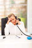 Worried senior businesswoman Stock Photography