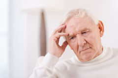 Worried senior man. Royalty Free Stock Images