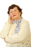 Worried senior woman Royalty Free Stock Photo