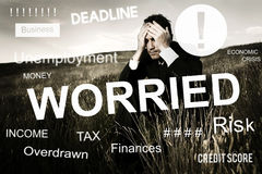 Worried Stress Problem Exam Job Concept stock image