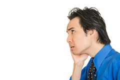 Worried stressed young business man Stock Image