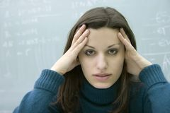 Worried student Stock Photography