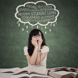 Worried student with problems 1 Stock Images