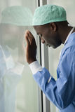 Worried surgeon Stock Photo