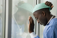 Worried surgeon Stock Photos