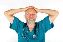 Worried surgeon Royalty Free Stock Image