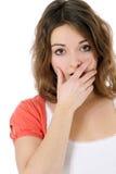 Worried teenage girl Royalty Free Stock Photography