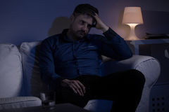 Worried thoughtful man Stock Photography