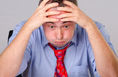 Worried Tired Businessman Stock Photo