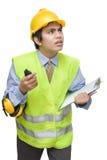 Worried watching foreman Royalty Free Stock Photo