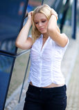 Worried woman Stock Image