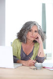 Worried woman Stock Image