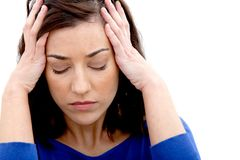 Worried woman portrait Royalty Free Stock Photography