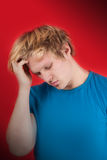 Worried young man Royalty Free Stock Photos