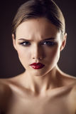 Worried young woman Royalty Free Stock Images